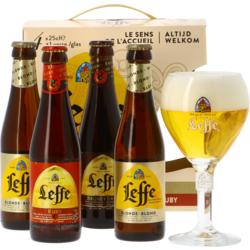 Accessoires et cadeaux - Leffe Welcome Pack - 4 bières et 1 verre