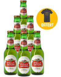 Regalos y accesorios - Pack 6 Stella Artois + 1 T-shirt