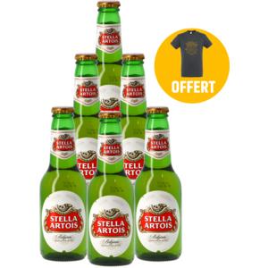 Pack 6 Stella Artois + 1 T-shirt
