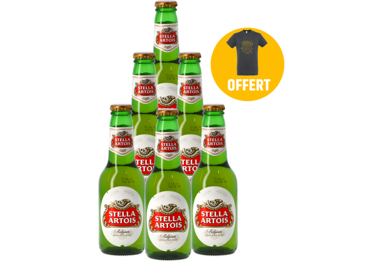 Accessori e regali - Pack 6 Stella Artois + 1 T-shirt