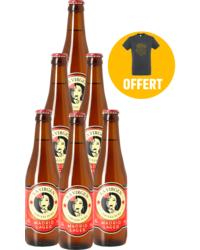 Bottled beer - La Virgen Madrid Lager 6 Pack + 1 Free T-shirt