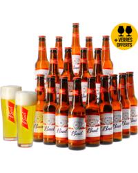 Cadeaus en accessoires - Budweiser Bud 18 pakket + 2 gratis glazen