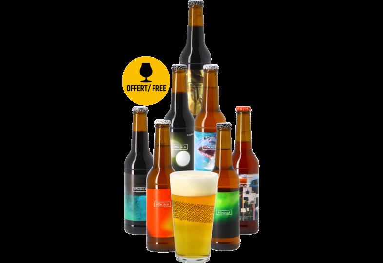 Cadeaus en accessoires - Pack Põhjala (7 bieren en 1 glas)