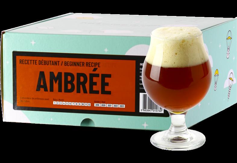 Kit à bière tout grain - Recette Bière Ambrée - Recharge pour Beer Kit Débutant