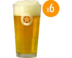 Verres à bière - Verre Motte - Cordonnier x6
