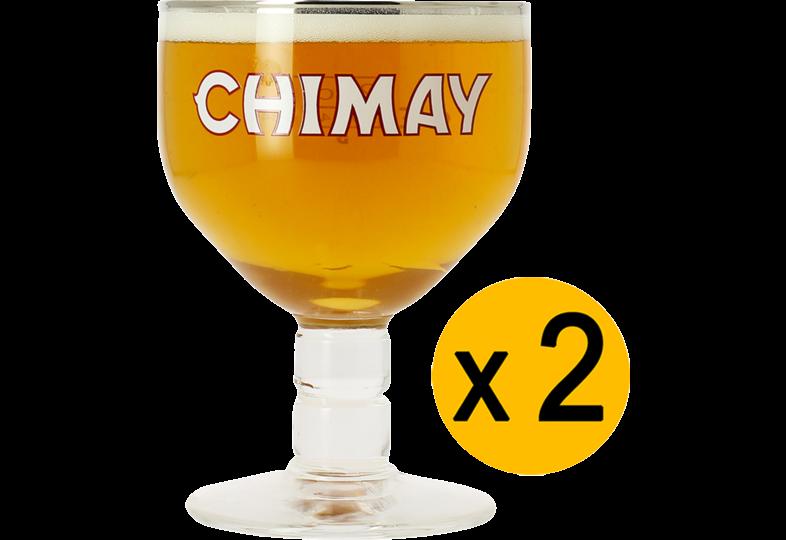 Verres à bière - Pack 2 Verres Chimay - 33 cl
