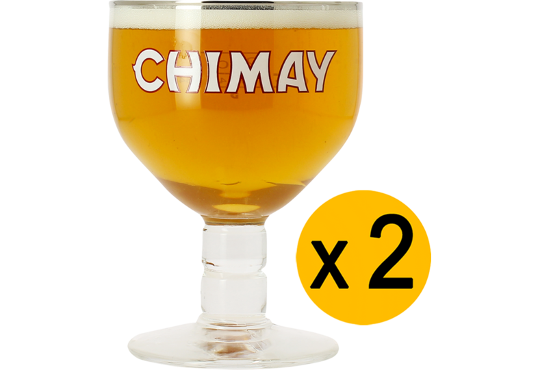 Beer glasses - 2 Chimay 33cl glasses