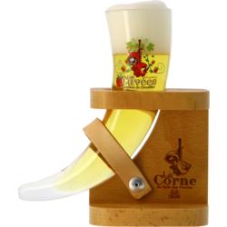 Beer glasses - Verre La Corne du Bois des Pendus Dégustation avec pied bois - 15cl