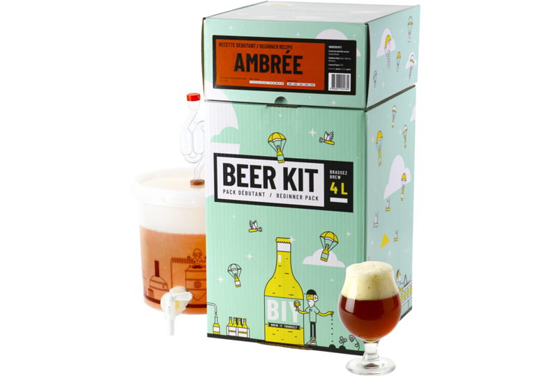 Moutpakket - Bierbrouwkit voor beginners: Amberbier
