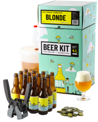 Kit à bière tout grain - Beer Kit Débutant, je brasse et j'embouteille une bière Blonde