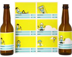 Kit à bière tout grain - Étiquettes autocollantes pour personnaliser sa bière