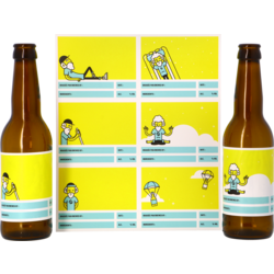 Moutpakket - Etiketten voor op je flessen met daarin je zelfgebrouwen bier!