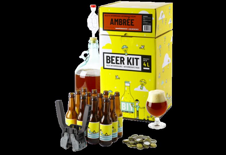 All-Grain Beer Kit - Beer Kit Intermédiaire, je brasse et j'embouteille une bière ambrée
