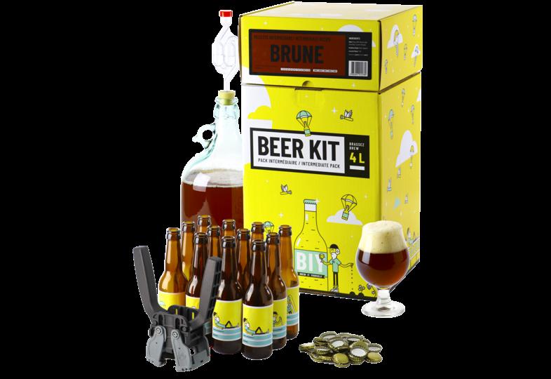 Kit à bière tout grain - Beer Kit Intermédiaire, je brasse et j'embouteille une bière Brune
