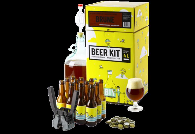Kit ricette per tutti i grani - Beer Kit Intermediario, preparare ed imbottigliare una birra  brune