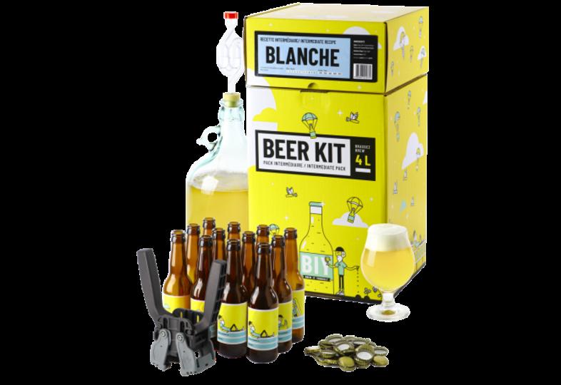 Kit ricette per tutti i grani - Kit di brassaggio intermedio COMPLETO - Birra Blanche