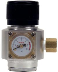 """Accessoires du brasseur - Mini régulateur CO2 à bille connexion 1/4"""" MFL"""