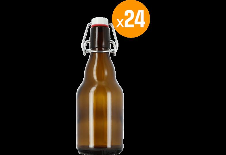 Brouwbenodigdheden - 24 flessen 33 cl + 24 mechanische doppen