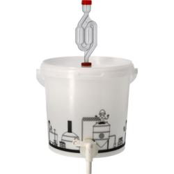 Brewing Accessories - Seau de fermentation 6,2L gradué et percé avec Robinet, couvercle troué et Barboteur