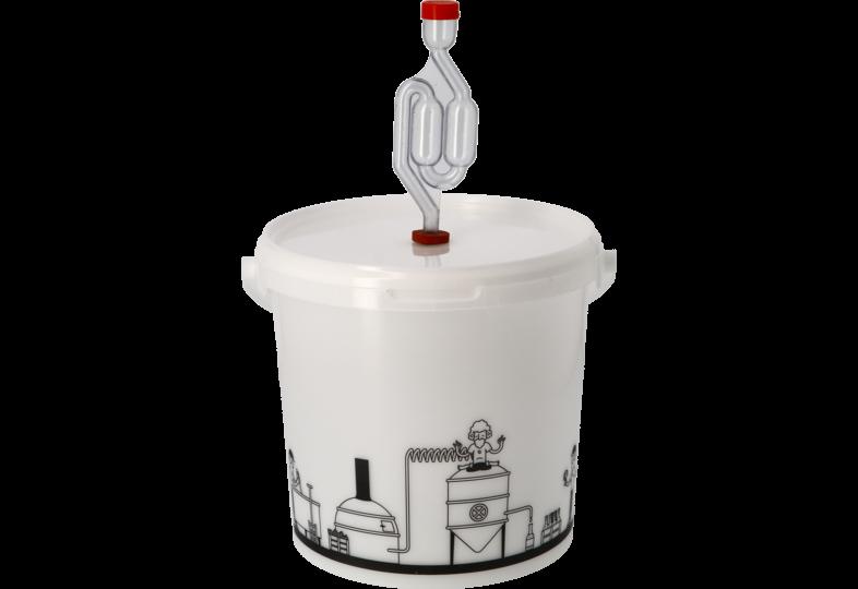 Brewing Accessories - Seau de fermentation 6,2L gradué avec couvercle troué et Barboteur