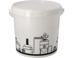 Brewing Accessories - Seau de fermentation 6,2L gradué avec couvercle non troué