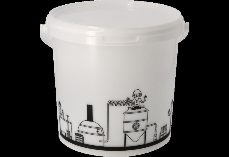 Accessoires du brasseur - Seau de fermentation 6,2L gradué avec couvercle non troué