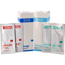 Accessoires du brasseur - Kit d'entretion et de solutions tampons pH mètre
