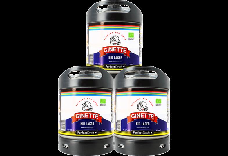 Fûts de bière - Pack 3 fûts 6L Ginette Bio