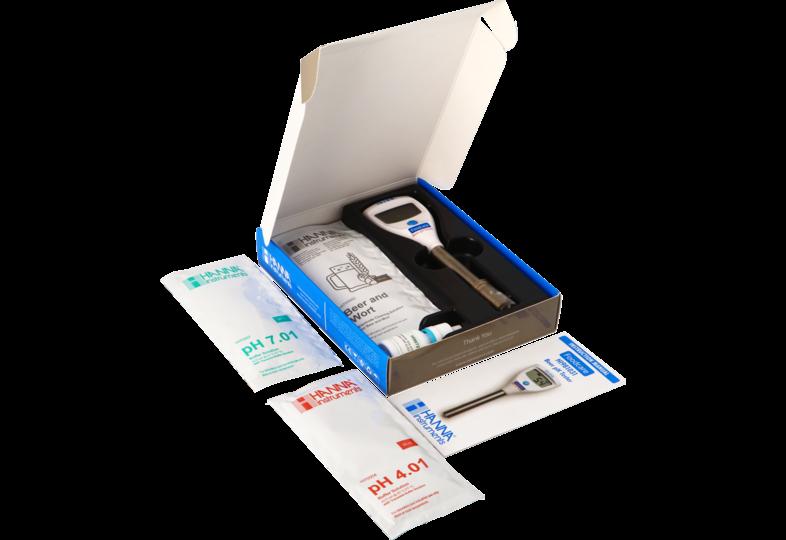 Outils de mesure - Kit HI981031 Testeur de pH avec électrode spéciale bière