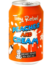 Bouteilles - Tiny Rebel Peaches & Cream IPA