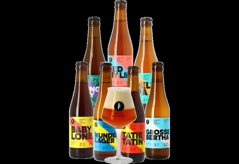 Accessoires et cadeaux - Pack Brussels Beer Project - 7 bières + 1 verre