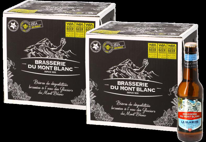 Bouteilles - Big Pack Blanche du Mont Blanc - 24 bières