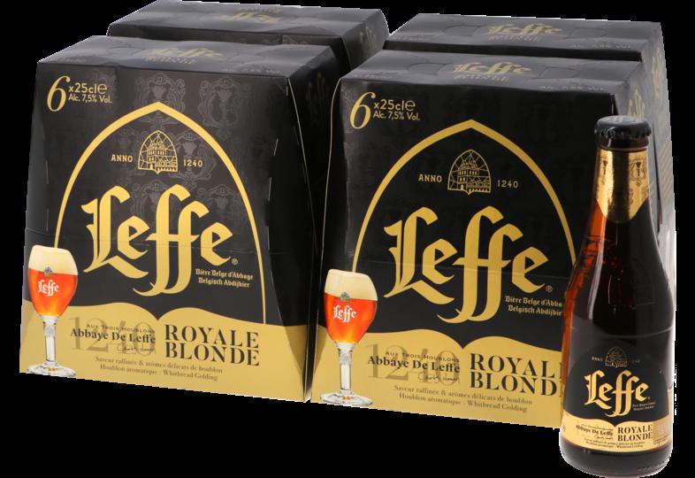 Bouteilles - Big Pack Leffe Royale Blonde - 24 bières