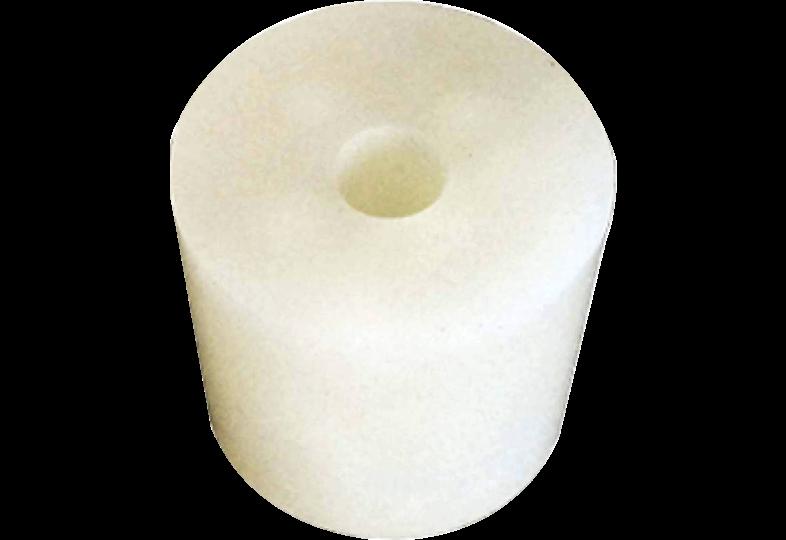 Accessoires du brasseur - Bouchon en silicone  36 à 44 mm , troué 9 mm