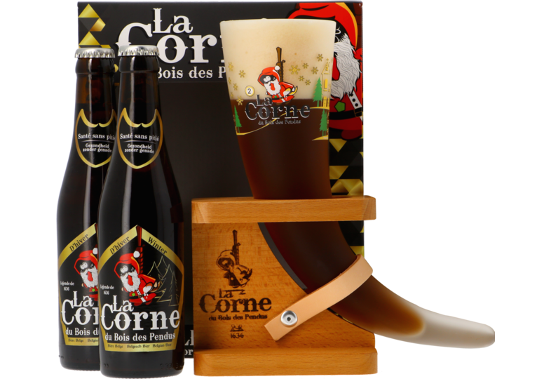 Accessoires et cadeaux - Coffret La Corne du Bois des Pendus Hiver - 2 bières et 1 verre
