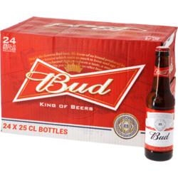 Flessen - Big Pack Bud 25cl - 24 beers