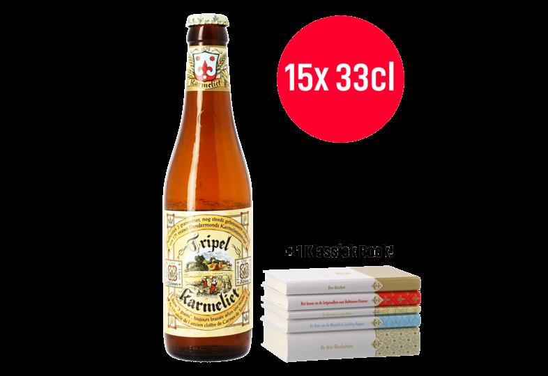 Flessen - Tripel Karmeliet 15x33xcl + 1 Gratis Boek