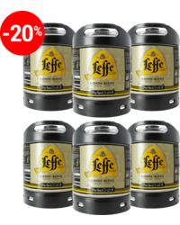 Fûts de bière - Assortiment 6 Fûts 6L de Leffe Blonde