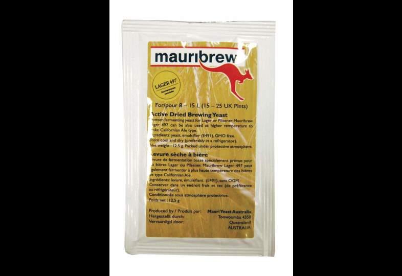 Levures pour fermentation - Levure de bière sèche mauribrew Lager 497 - 12,5g