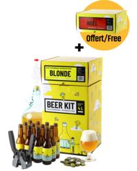 Beer Kit - Beer Kit Intermédiaire Complet Bière Blonde + Recharge Intermédiaire Bière de Noël offerte