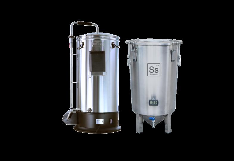 Cuves de brassage - Pack Duo Brassage & Fermentation - Grainfather Connect + Cuve de fermentation Brew Bucket BME 7 Gal. Ss Brewtech