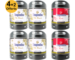 Fûts de bière - Pack 6 Fûts 6L : 4 Hoegaarden + 2 Hoegaarden Rosée Offerts
