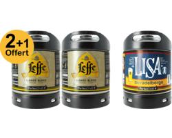 Assortiments 3 fûts - Pack 2 Fûts 6L de Leffe Blonde + 1 Lisa Offert