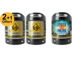 Fûts de bière - Pack 2 Fûts 6L De Leffe Blonde + 1 Under the Palms Offert