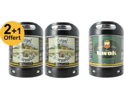 Assortiments 3 fûts - Pack 2 Fûts 6L De Tripel Karmeliet + 1 Kwak Offert