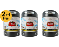 Assortiments 3 fûts - 3-er Pack Stella Artois 6L 3 für 2