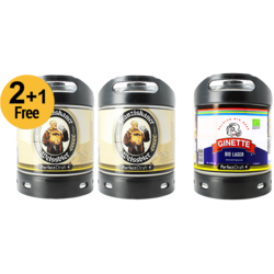 PerfectDraft 3er-Pack - 2-er Pack Franziskaner Weissbier  6L + 1 Ginette Lager Gratis