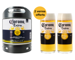 Fusti di birra - Fusto Corona PerfectDraft 6L + 2 bicchieri
