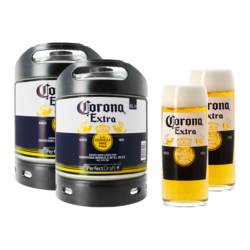 Fatöl - 2 Corona Extra PerfectDraft 6-liters Fat + 2 glas