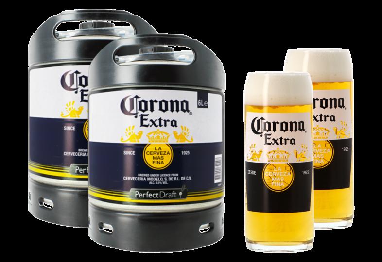 Kegs - Corona PerfectDraft 6L Keg + 2 glasses - 2-Pack